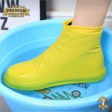 1 Pair Reusable Waterproof Slip-Resistant Rubber Rain Sport Shoe Cover