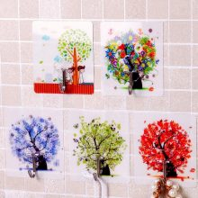 5 Pcs Set Random Color Strong Plastic Magic Wall Hooks