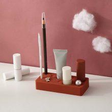 8 Grid Silicone Lipstick Eyebrow Storage Holder