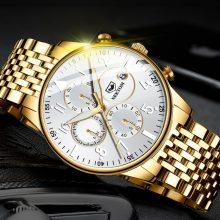 NIBOSI Quartz Stainless Clock Luxury Brand Mens Watch