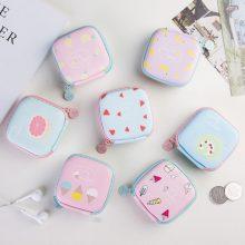 Mu Qixi coin purse female mini cute Korean small square bag mini coin bag headphone bag can be customized