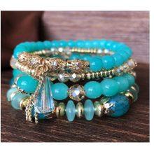 Guvivi Stone Beads Wrap Bracelets For Women Charm Shell Bracelets