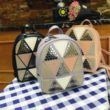 Women Preppy Style PU Leather Backpack