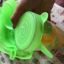 6 Pcs Set Food Silicone Reusable Stretch Lids