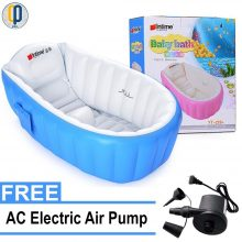 Intime Inflatable Baby Bath Tub, Baby Children Shower Tub