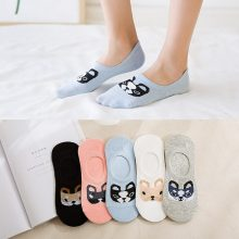 Cartoon Pattern Women Invisible Sock