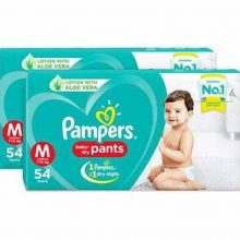 Diaper Pampers M 7-12 KG 54 piece