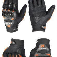 New high quality brand NEXX Motorcycle gloves retro Moto racing gloves Motocross full finger gloves Cycling glove M/L/XL Black Large