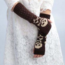 Multi-functional Long Warm Gloves Half-finger