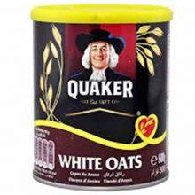 Oats Quaker Tin 500gm White