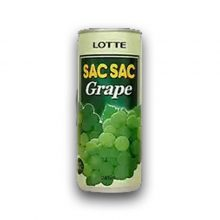 Lotte Sacsac Grape Pulpe Drink-240ml