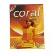 L4 Coral Natural Latex 3 Fruits Condom (Width 52 ± 2 mm) 3 pcs