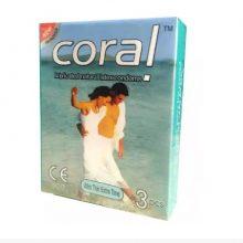 L1 Coral Ultra Thin Extra Time Condom (Width 52 ± 2 mm) 3 pcs