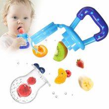 Kidzvilla 2 Baby Food Fruit Feeder Pacifier, 1 Pack Dispensing Spoon Teether | Feeding Set