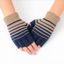 Winter Men Women Half Finger Gloves – Grey