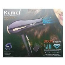 KM- Professional 2 In 1 Hair Dryer 3000W -Black