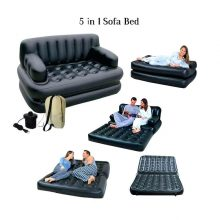 5 in 1 Inflatable Double Air Bed cum Sofa with free electric pumper