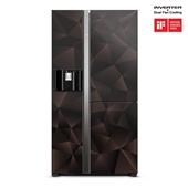 Hitachi Side By Side Refrigerator | R- M820VAG9PBX(GBZ) | 633L